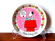 """Vintage """"Peanuts"""" Snoopy Mother's Day 1977 Collector's Plate, Original Box"""