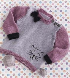 Ravelry: #27 Kitty-Cat Pullover pattern by Pat Olski
