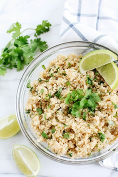 Coconut Lime Cilantro Quinoa