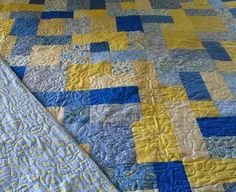 I love yellow and blue quilts