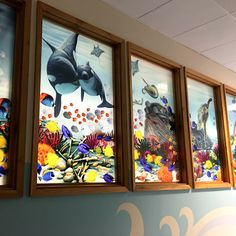 Light shining through window art. West Suffolk Hospital Eye Clinic. Amanda Turner. Pintsizeart.com