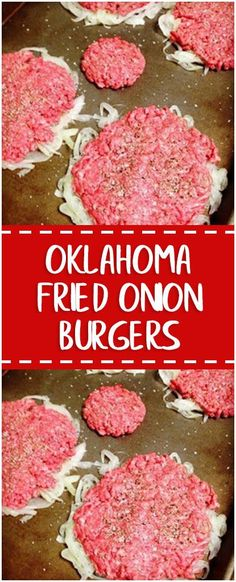 Ingredients 1 large onion, peeled, halved and thinly sliced salt and pepper 1 lb ground beef 1 tablespoon butter 1 tablespoon vegetable oil 4-8 slices American cheese Mayo, mustard and pickles, for serving 4 hamburger