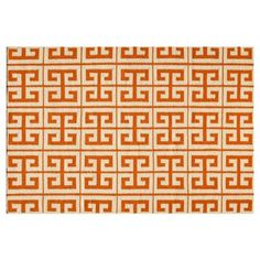 Check out this item at One Kings Lane! 8'x10' Donna Flat-Weave Rug, Orange