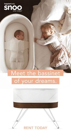 Get more hours of sleep with SNOO smart bassinet. Harvey Karp, author of Happiest Baby on the Block, SNOO is the only smart bassinet that automatically responds to soothe your baby with gradually stronger levels of white noise and motion. The Babys, My Bebe, Baby Gadgets, Everything Baby, Baby Needs, Baby Time, Happy Baby, Baby Cribs, Girl Nursery