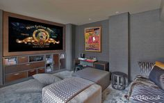 Luxury interior design by Rene Dekker Design   #interiordesign  #interiordecor  #cinemaroom  #interiors  #renedekkerdesign