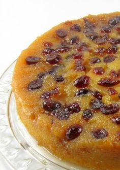 One Perfect Bite: Caramelized Pear and Cranberry Upside Down Cake