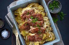 Potet- og fennikelform med kylling