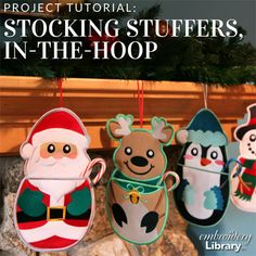 Stocking Stuffers, In-the-Hoop  (PR2064) from www.Emblibrary.com