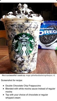 How to Make Your Favorite Starbucks Drink at Home Oreo Fra.How to Make Your Favorite Starbucks Drink at Home Oreo FrappuccinoHow to Make Your Fave Starbucks Drink at Home - Starbucks H. Starbucks Hacks, Starbucks Frappuccino, Secret Starbucks Recipes, Bebidas Do Starbucks, Secret Starbucks Drinks, Starbucks Secret Menu Drinks, Oreo Starbucks Drink, Starbucks Order, How To Make Frappuccino