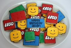 Icings by Ang: Childrens Birthday Cookies LEGO