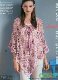 Crochet gold: Beautiful lace poncho!
