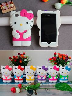 3D hello kitty iPhone case. They are the   squishy kind!!