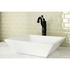 Parisan White Vitreous China Vessel Lavatory Sink - Overstock™ Shopping - Great Deals on Bathroom Sinks