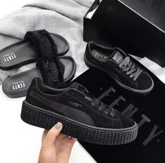 sports shoes 1cd88 793d8 Fenty Creepers, Rihanna Puma Creepers Black, Rihanna Puma Sneakers, Black Shoes  Sneakers,