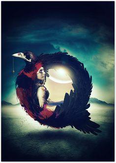 Raven Queen by Mateusz Jablonski, via Behance