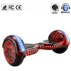 Newest 10 inch Hoverboard with Bluetooth LED Light Self Balance Wheel Electric Scooters Monowheel