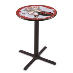 Holland Bar Stool L211B3628FlaPan-D2 36 in. Florida Panthers Pub Table with 28 in. Top, Black, As Shown