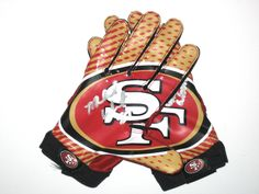 Michael Wilhoite Game Worn & Signed San Francisco 49ers Team Authentic Series Nike Gloves