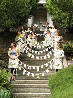 Prayer Flags - Love it!     Dottie Angel retreat.