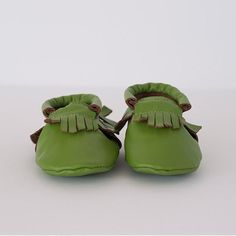 Super soft and durable leather soled shoes in sizes Available in a range of colours. Baby Footwear, Moccasins, Baby Shoes, Green, Leather, Clothes, Shopping, Collection, Fashion