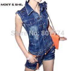 S-XL Freeshipping Frauen Plus Größe Sommer Denim Overall Shorts Weste + Kurz Abnehmbare Insgesamt Beiläufige Jeans Strampler Gürtel #5001