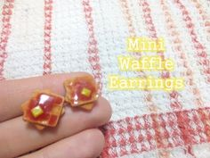 Tutorial: Miniature Waffle Earrings - Polymer Clay - YouTube