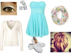 """""""Dressing Down a Dress"""" by kayleekat13 ❤ liked on Polyvore"""