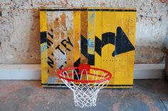 COMMON Hoops from Project M—constructed out of repurposed abandoned road signs in AL #gomguyver