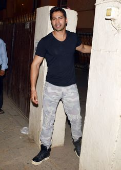 Varun Dhawan spotted outside his building. #Bollywood #Fashion #Style #Handsome