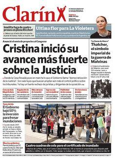 Cristina lanzó su avance más fuerte sobre el Poder Judicial. Más información: http://www.clarin.com/politica/Cristina-avance-fuerte-Poder-Judicial_0_898110223.html