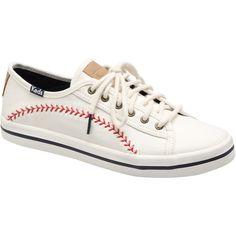 87b60d5be39 MLB Keds Women s Kick Start Pennant Canvas Shoes - White Red