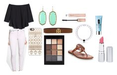 """""""Day 1"""" by claregenung02 on Polyvore featuring Rebecca Taylor, Genetic Denim, Kendra Scott, Casetify, Tory Burch, Forever 21, Clinique and HoneyBee Gardens"""