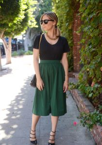 Emerald Green Party Skirt