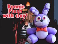 Five Nights at Freddy's FNAF Bonnie Plush Version polymer clay tutorial