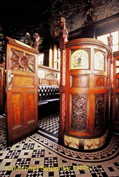 "Crown Bar, Belfast  (""the most beautiful bar in the world""). Picture yourself having a drink with Falstaff and young Prince Hal in this snug."