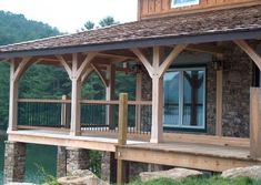 Cabin Creek Timber Frames is made up of a team of experienced professionals in Franklin, North Carolina who know their craft and are passionate about their craft. You can see this dedication illustrated in our Timber Frame construction portfolio below. Metal Roof Houses, House Roof, Gazebo, Pergola, Cabin Decks, Porch Posts, Roof Deck, Decks And Porches, Building A Deck