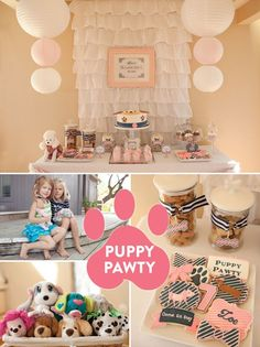 """ADORABLE Puppy """"Pawty"""" Party Photos and Inspiration!"""