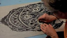 AMAZING video of the linoleum print process with Bill Fick.