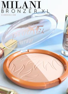 Swatches and review of Milani Bronzer XL 04 Dolci from the latest Limited Edition Dolci Bronze Collection for Summer 2015. It's beautiful, you guys!!! Read more at: https://glamorable.com | via @glamorable