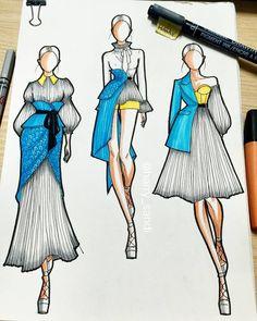 Fashion design sketches 755690012462482859 - harry sandi on Dress Design Drawing, Dress Design Sketches, Fashion Design Sketchbook, Fashion Design Drawings, Fashion Sketches, Croquis Fashion, Fashion Artwork, Fashion Collage, Art Sketchbook