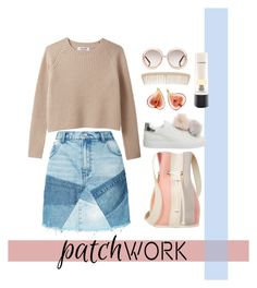 """""""You"""" by heyyitsmejane ❤ liked on Polyvore featuring PRPS, Office, Chloé, MAC Cosmetics, 10 Crosby Derek Lam, patchwork and fashionset"""