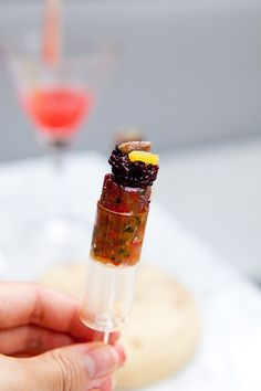 Tuna Tartare Push Pop with Red Wine Caviar