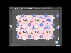 (894) Tutorial como hacer PATRONES en Illustrator - YouTube Illustrator Tutorials, Illustration, Floral, Favors, Flowers, Illustrations, Flower