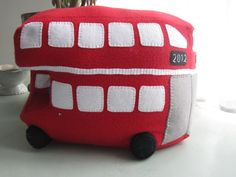 London Bus Cushion - Cuddly Toy to celebrate Jubilee and London Olympics £45