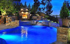 Luxurious Pool #RealPalmTrees