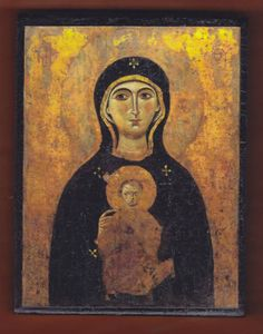 Madonna Nicopeia, Byzantine Icon in St. When you walk behind the screened area and see this, it stops your breath. Byzantine Icons, Byzantine Art, Religious Icons, Religious Art, Luke The Evangelist, Christian Artwork, Holy Mary, Madonna And Child, Orthodox Icons