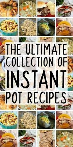 The Ultimate Collection of Instant Pot Recipes - Best Recipes for the Instapot Electric Pressure Cooker recipes Best Instant Pot Recipe, Instant Recipes, Instant Pot Dinner Recipes, Instant Pot Baby Food, Recipes Dinner, Dinner Ideas, Instant Cooker, Instant Pot Pressure Cooker, Pressure Cooking