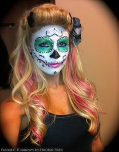 By Heather Jinks. Make up and Hair style for halloween pin up contest @Bloom.com