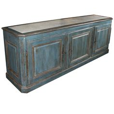 Painted Sideboard.  I like this color!  It's more workable than the bright aqua.