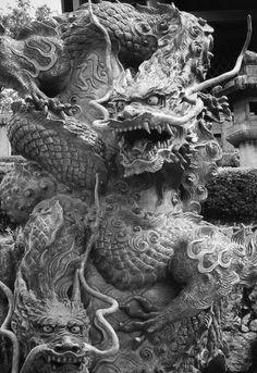 Asian Dragon Tattoo, Dragon Sleeve Tattoos, Japanese Dragon Tattoos, Vintage Mermaid, Mermaid Art, Mermaid Paintings, Dragon Illustration, Esoteric Art, Dragon Artwork